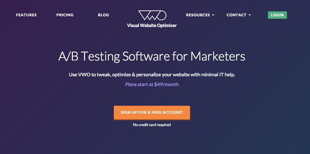 Nástroj pre A/B testovaie Landing Pages - Visual Website Optimize - Truniversity